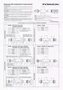 TOKENのボトムブラケット、TK878EXの取扱説明書