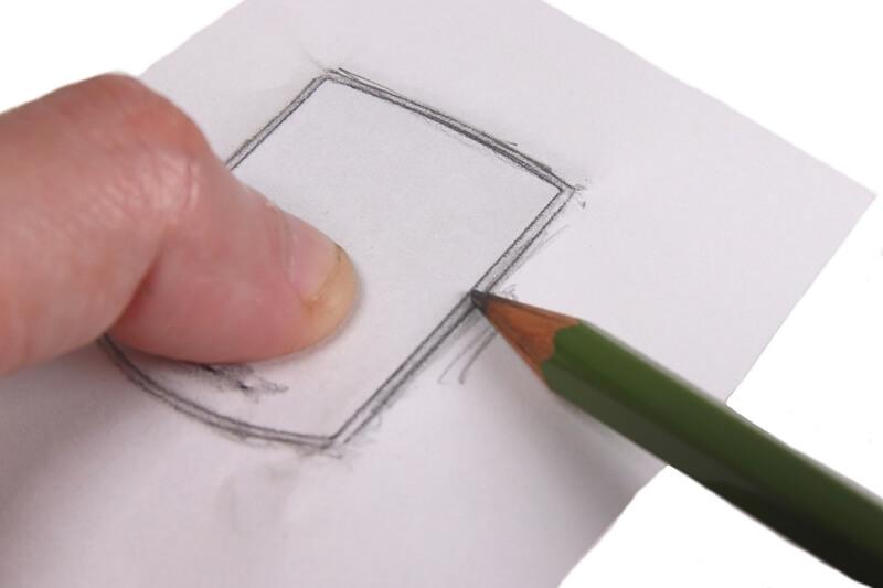 紙と鉛筆でサイコン画面の型を取る