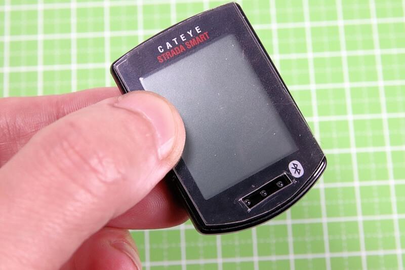 キャットアイ サイコンに自作した保護フィルムを合わせる