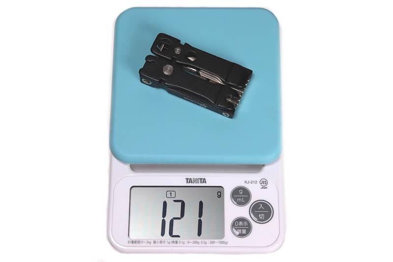 ROCKBROS 携帯マルチツールの実測重量