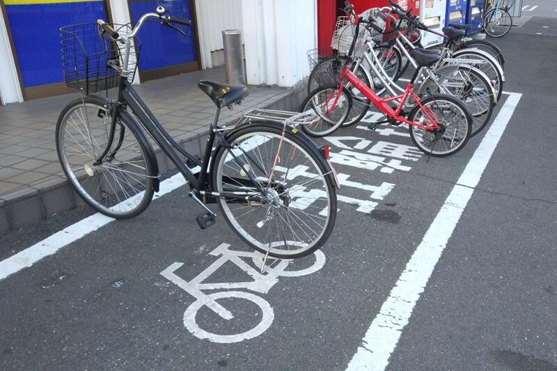 商業施設の駐輪場