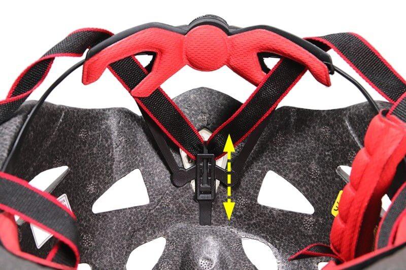 SHINMAX 自転車用ヘルメット、後頭部のパッド位置を調整できる