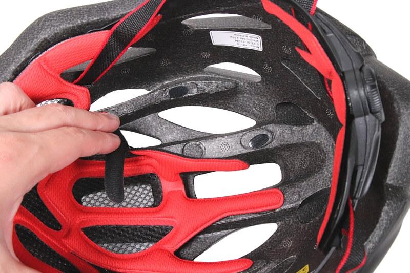 SHINMAX 自転車用ヘルメットのパッドはマジックテープで取り外せる