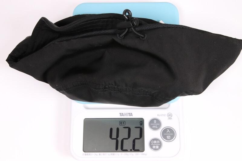 ナコタ トレイル ワークキャップの実測重量