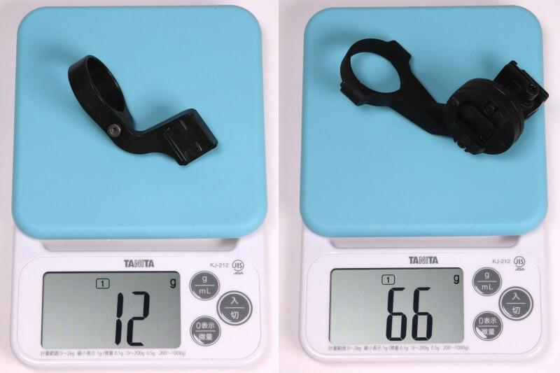 キャットアイ OF-100とOF-200の実測重量を比較
