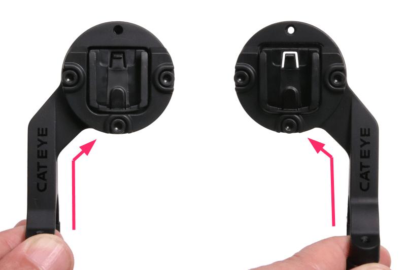 キャットアイ OF-200はハンドルの左右どちらにも取付可能