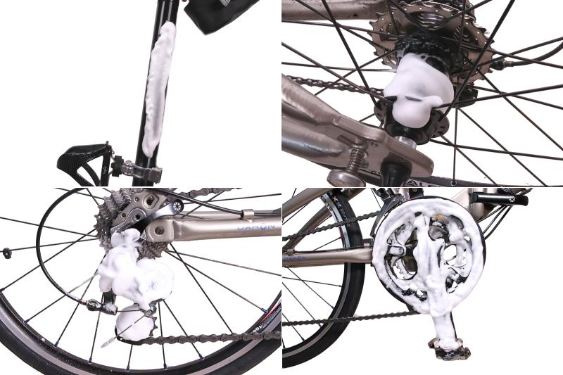 ワコーズ フォーミングマルチクリーナーを自転車の色々なパーツにスプレー