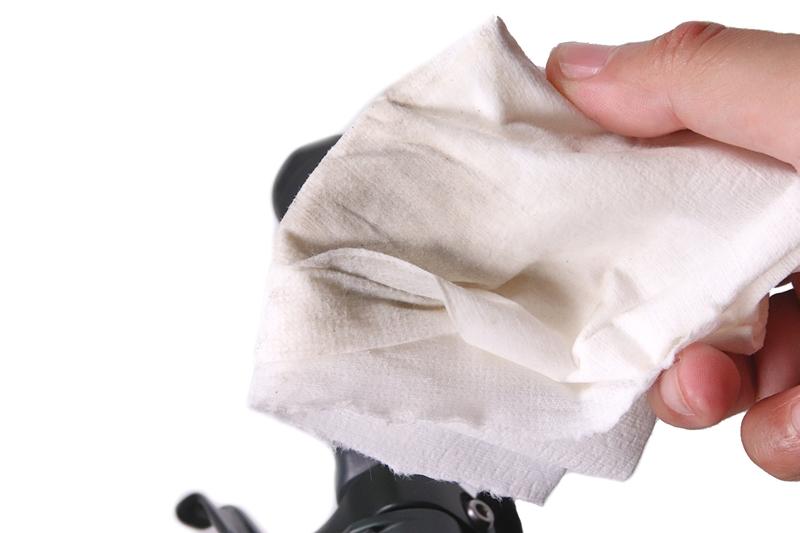自転車グリップの汚れ