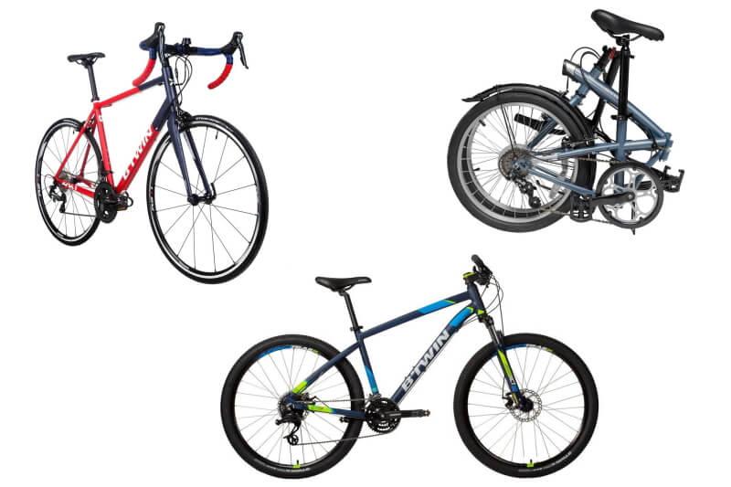 デカトロンの自転車本体