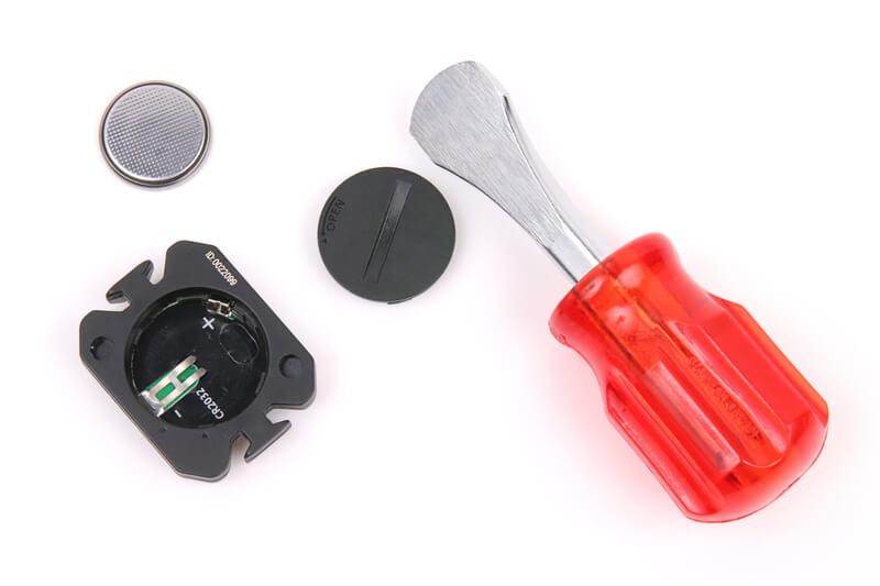 ケイデンスセンサーの電池交換