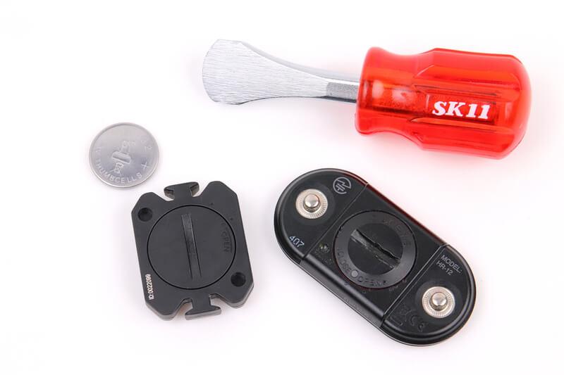 自転車用センサー類のボタン電池を交換する