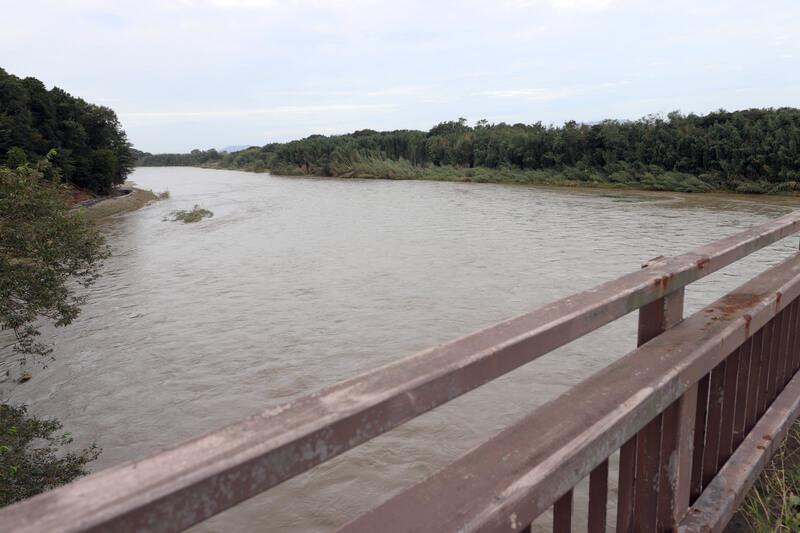 2019年10月14日 台風19号 小山市思川の様子
