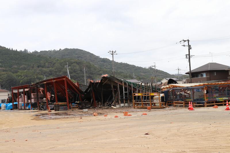 2019年10月14日 台風19号 栃木市大平町 農家の店みのりが出火