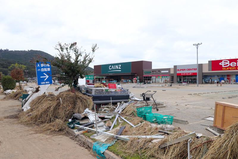 2019年10月14日 台風19号 栃木市大平町 カインズ
