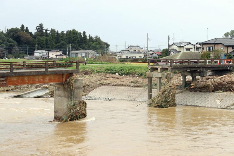 2019年10月14日 台風19号 栃木市大平町 崩壊した諏訪橋