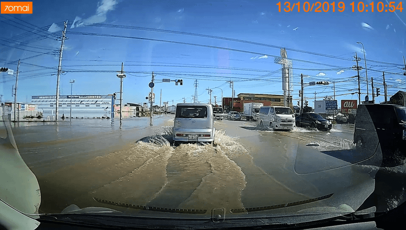 2019年10月13日の栃木市大平町