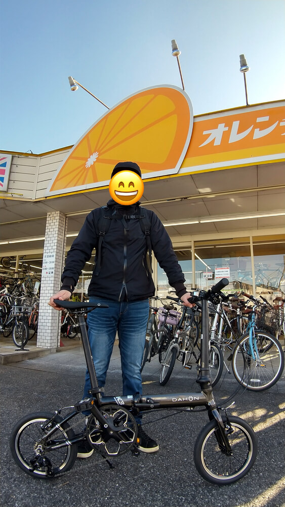 DAHON K3 ガンメタ 購入記念撮影