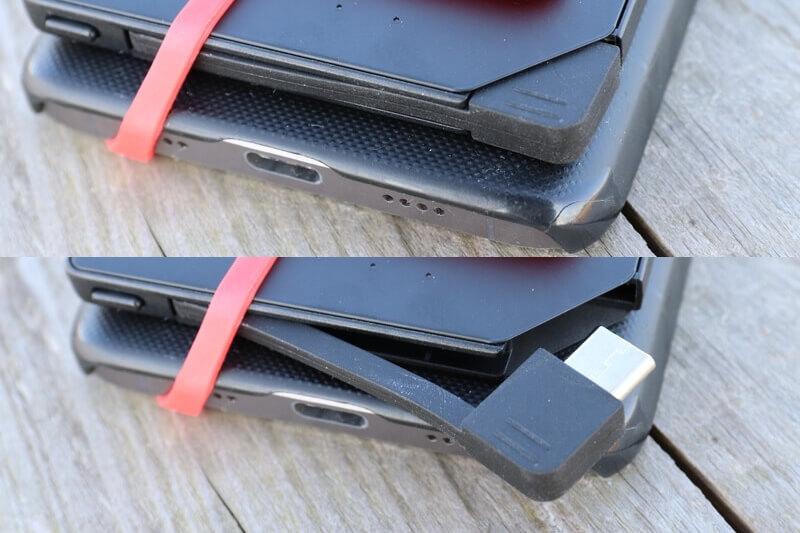 超薄モバイルバッテリー 5000mAhの電源コード
