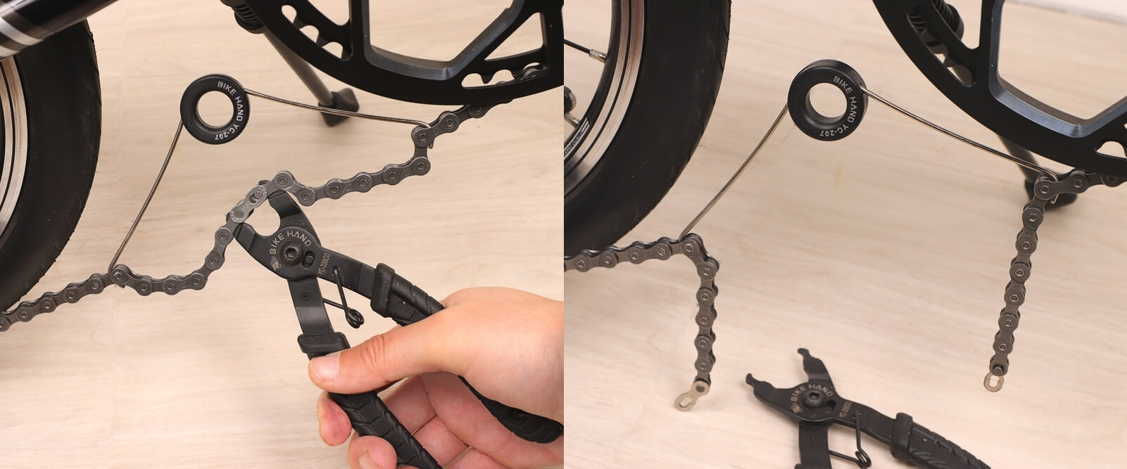 自転車チェーンの外し方