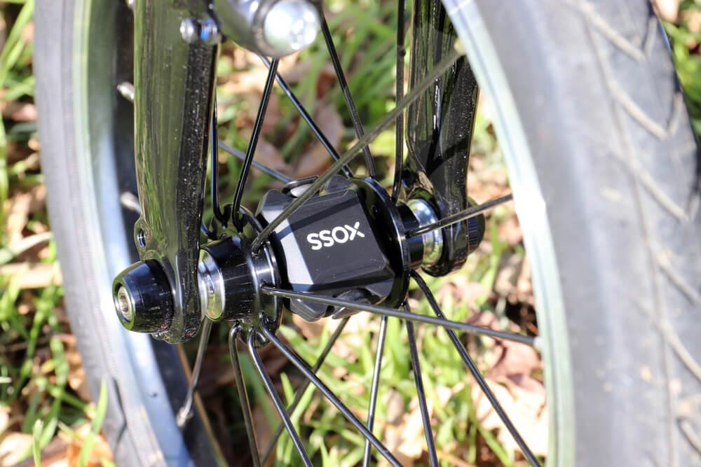 XOSSのスピードセンサーをDAHON K3のフロントホイールに取り付けた