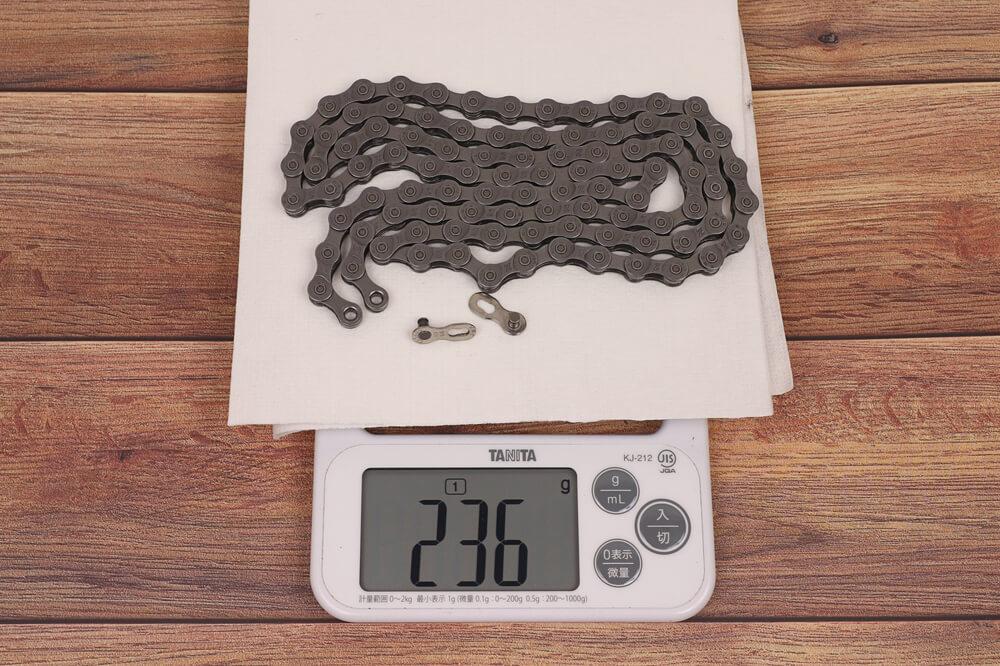 DAHON K3、チェーンの重量