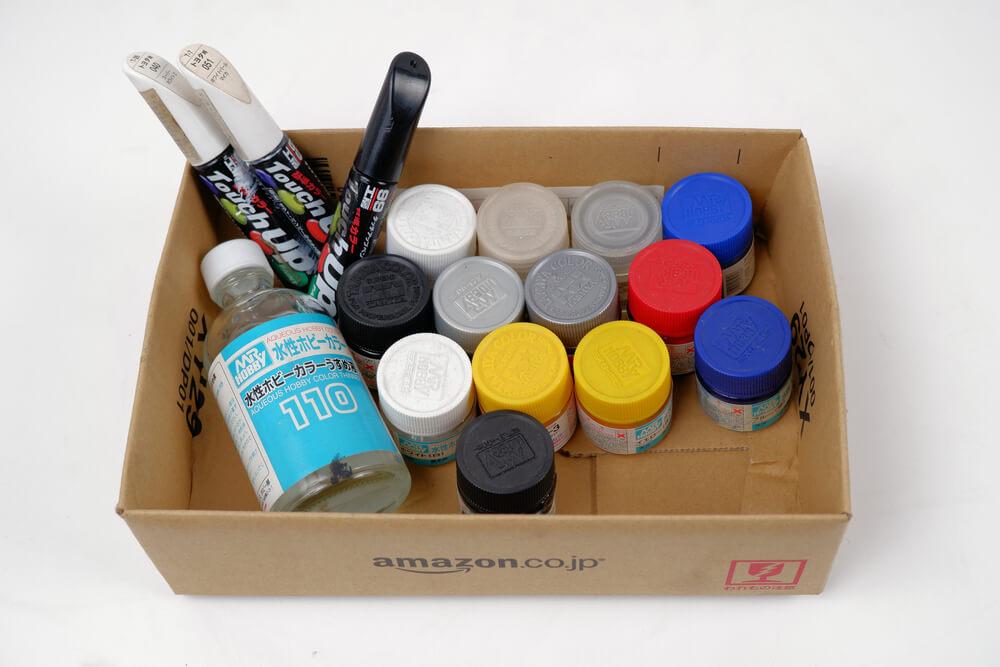 タッチアップペンとタミヤカラーのアクリル塗料
