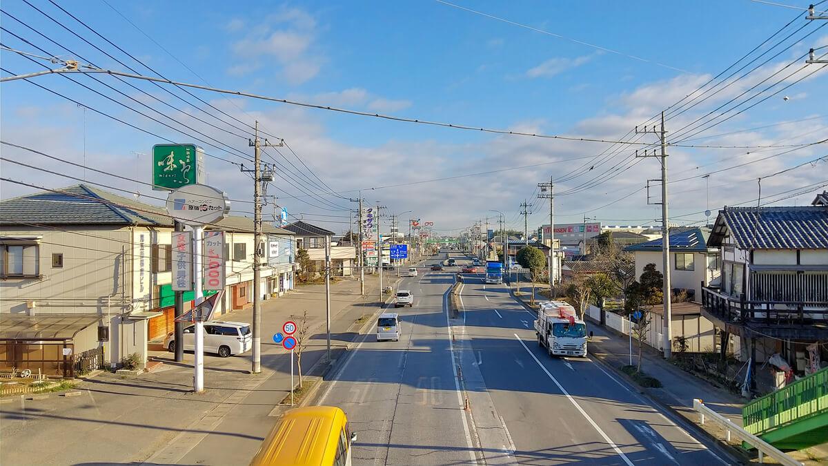 AQUOS sense3の広角カメラで町並みを撮影