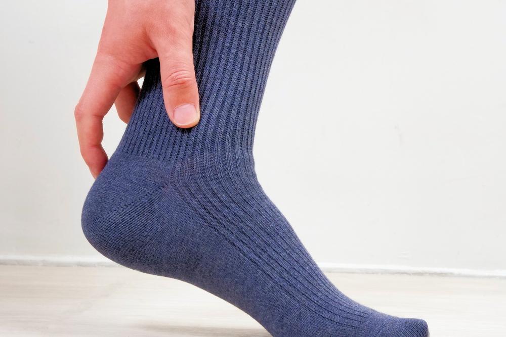無印良品 足なり直角靴下のかかと部分