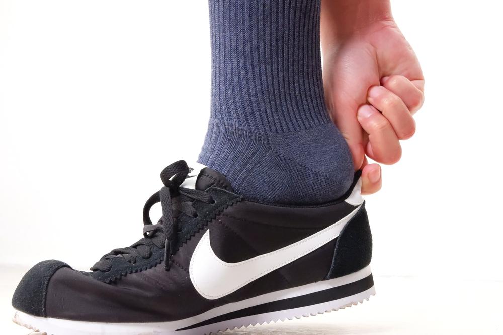 無印良品 足なり直角靴下を履いてからスニーカーを履く