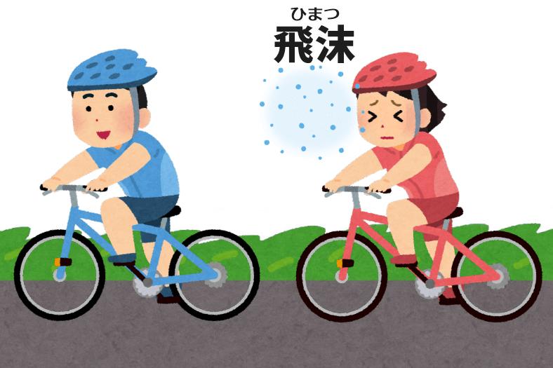 自転車のソーシャルディスタンス
