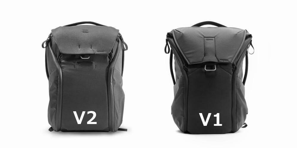 ピークデザイン エブリデイバックパックのV1とV2を比較