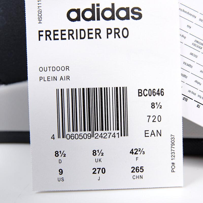 Five Ten Freerider proのサイズタグ