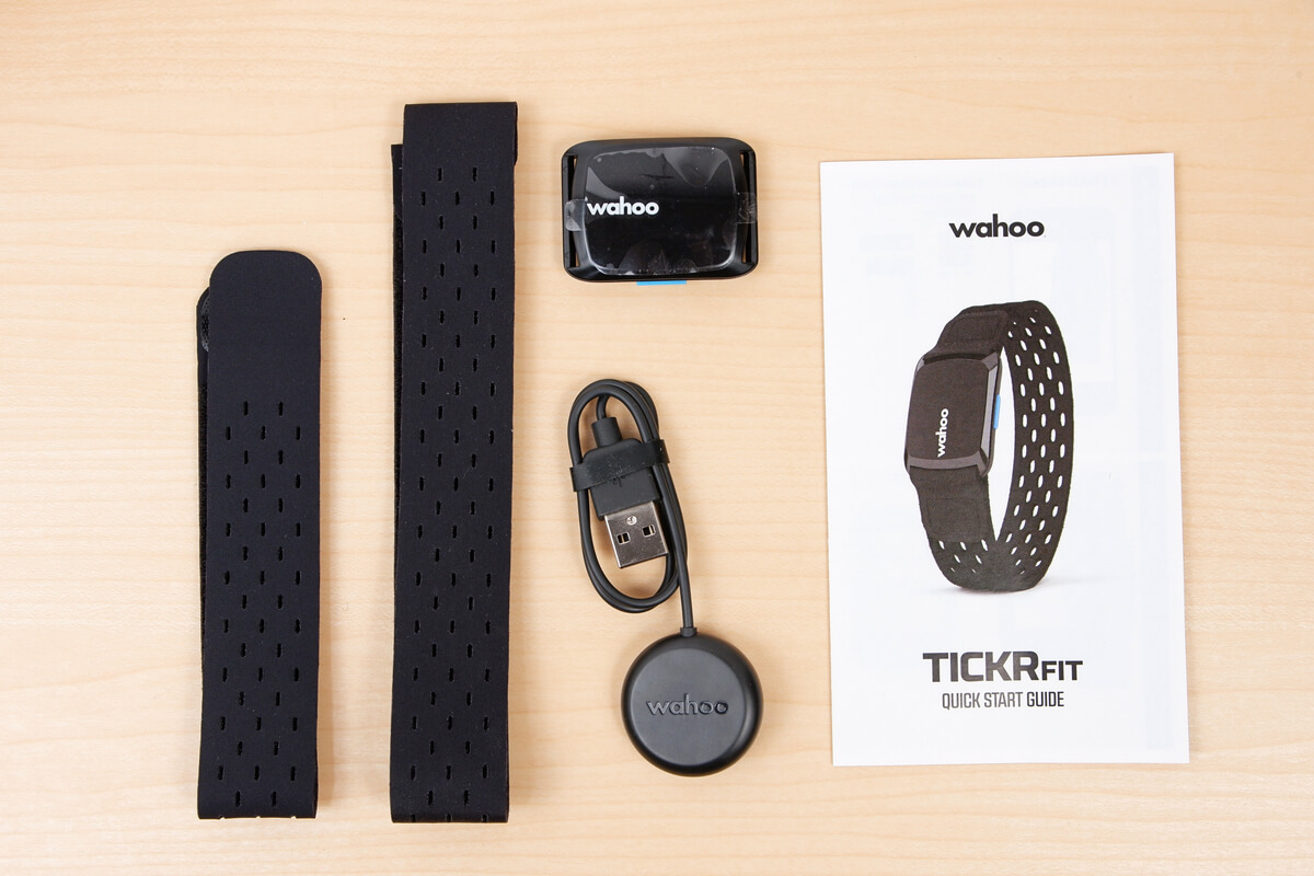 wahoo TICKR FITの付属品