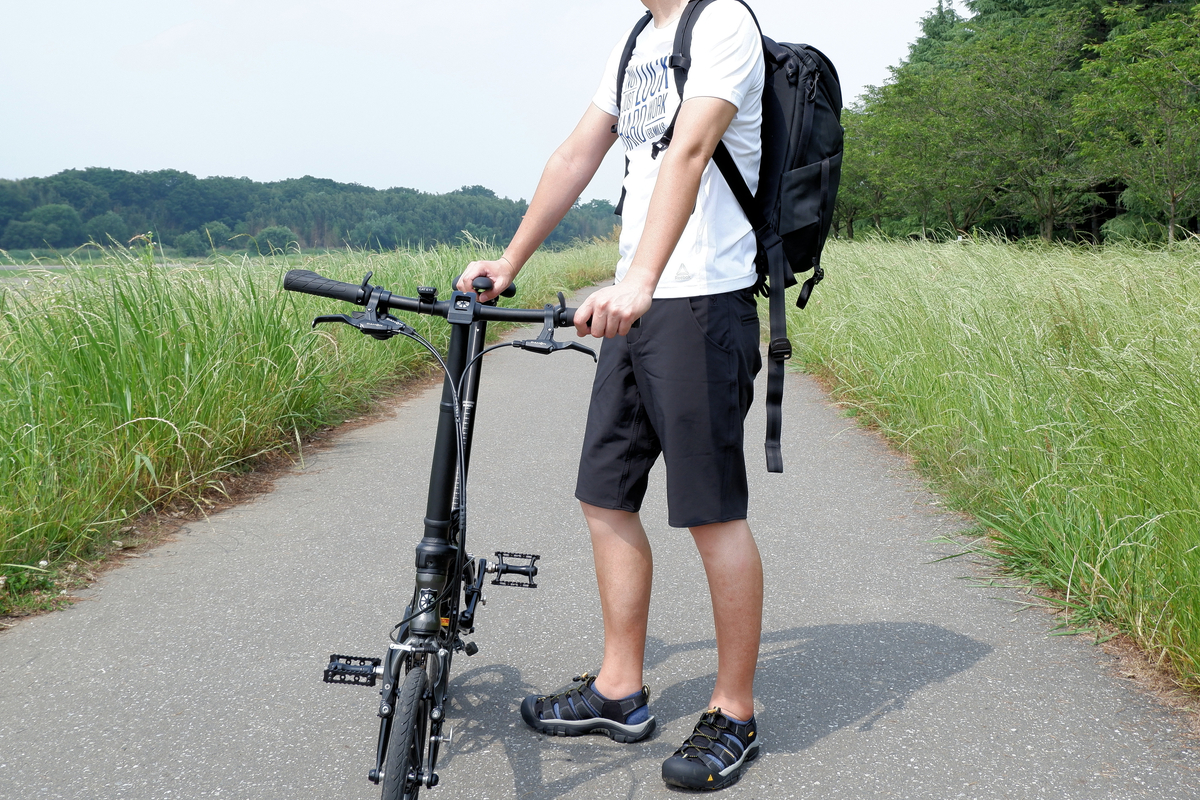 CHROME NATOMA SHORTを履いてサイクリング