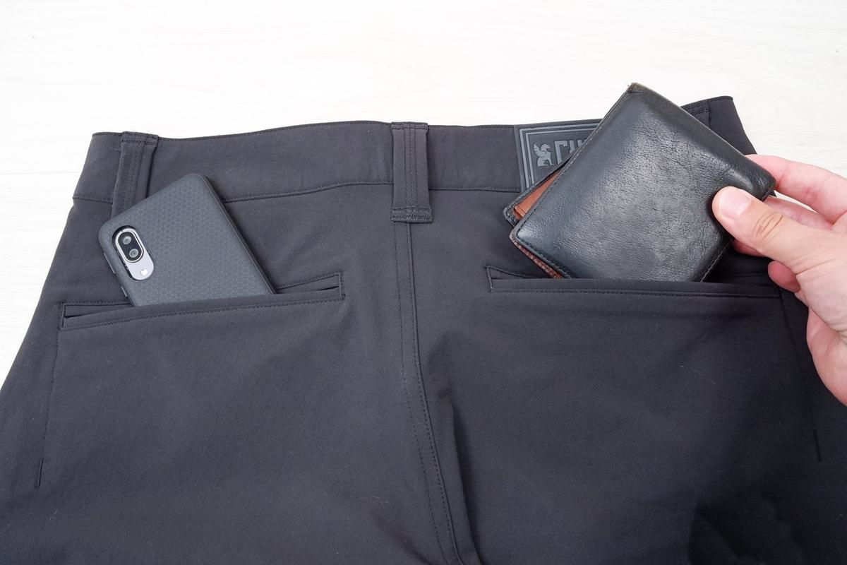 CHROME NATOMA SHORTの裏ポケット