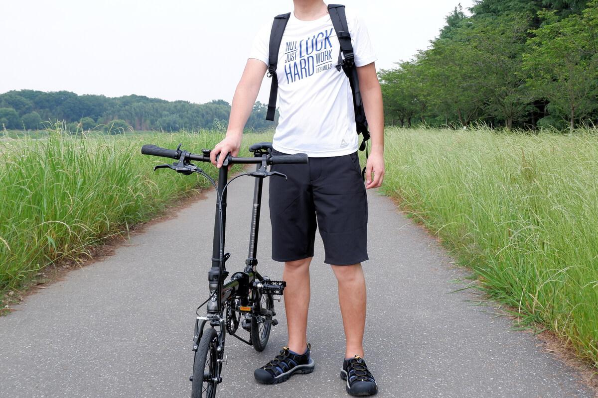 KEEN NEWPORT H2を履いてサイクリングロードへ