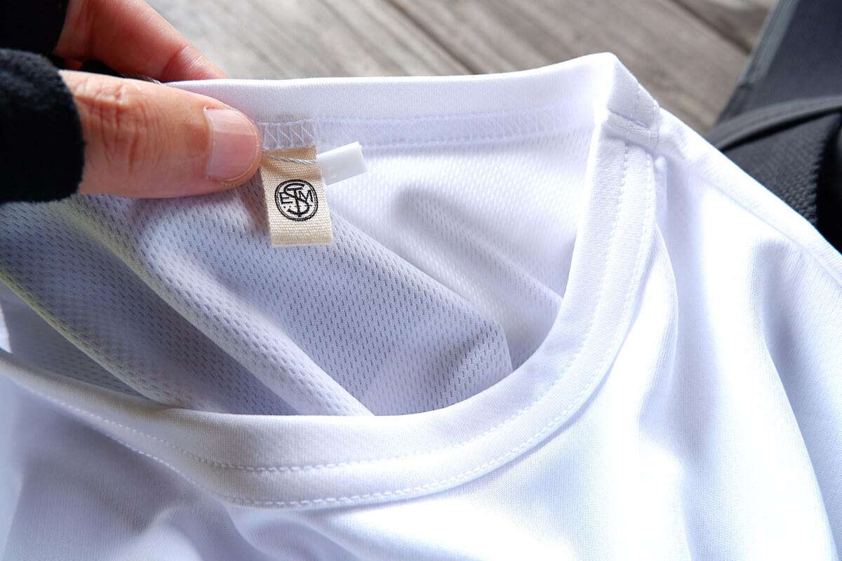 ステムデザイン サイクルTシャツの生地アップ