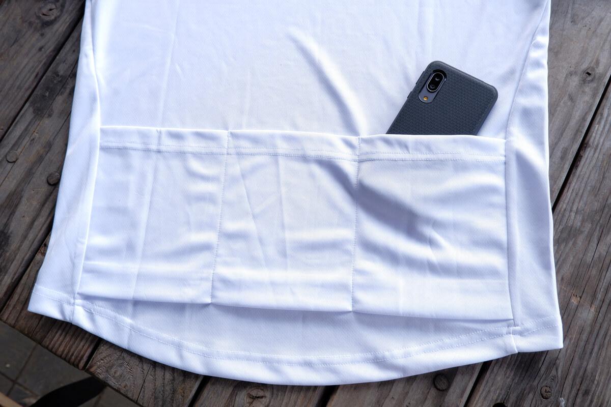 ステムデザイン サイクルTシャツのバックポケット