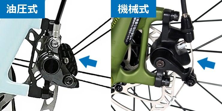 ディスクブレーキの油圧式と機械式の違い
