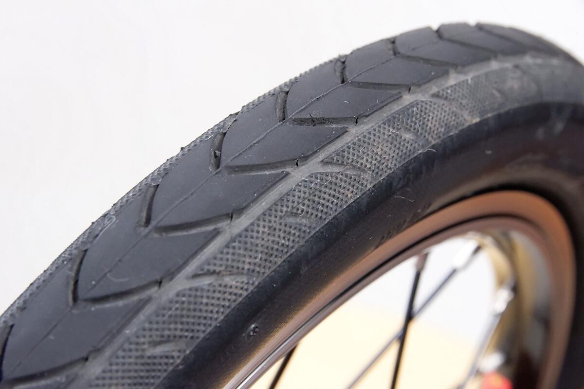 DAHON K3 前輪タイヤの減り具合