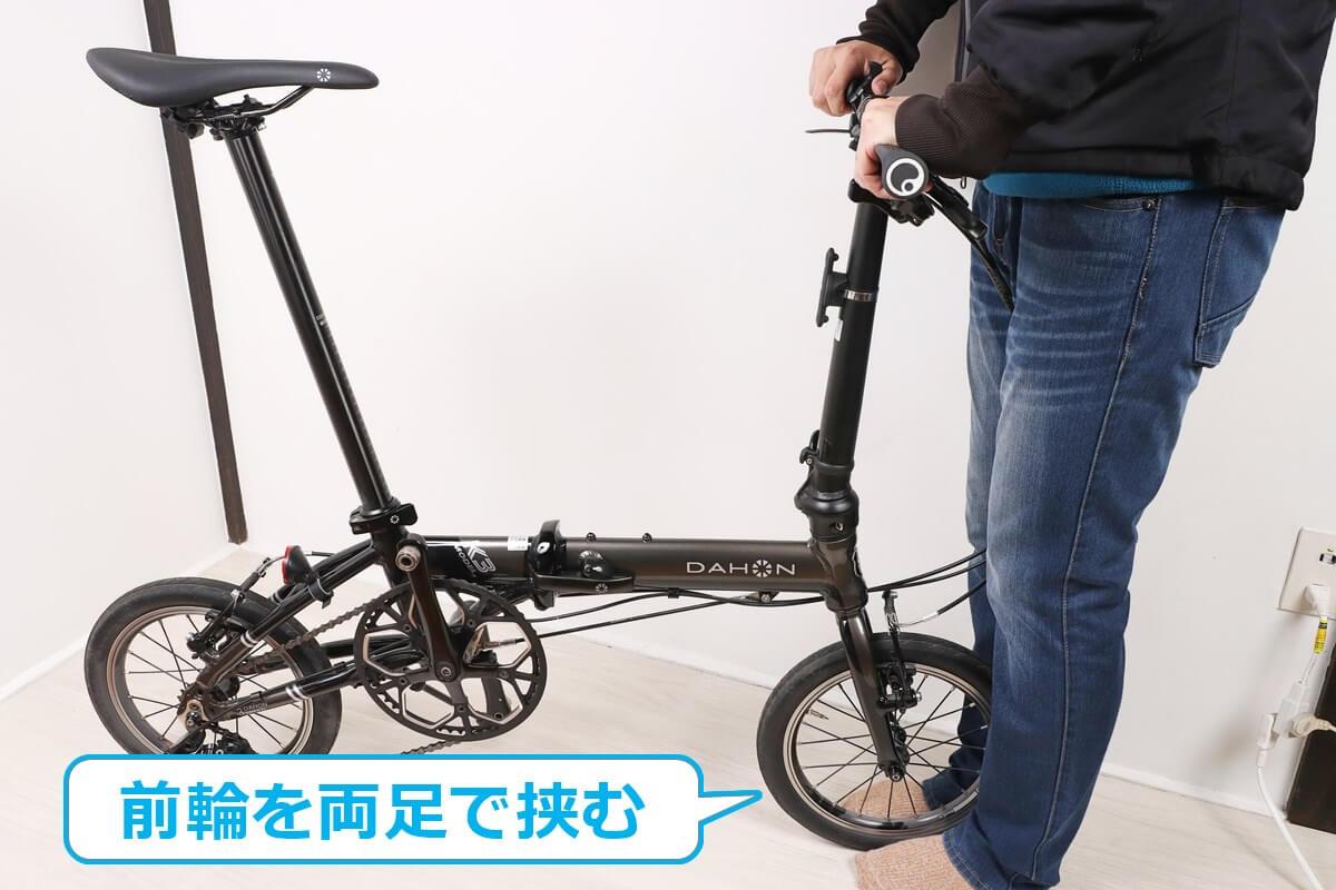 自転車ハンドルの緩みをチェック
