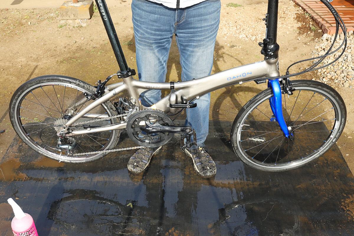 洗車した自転車の水切り方法