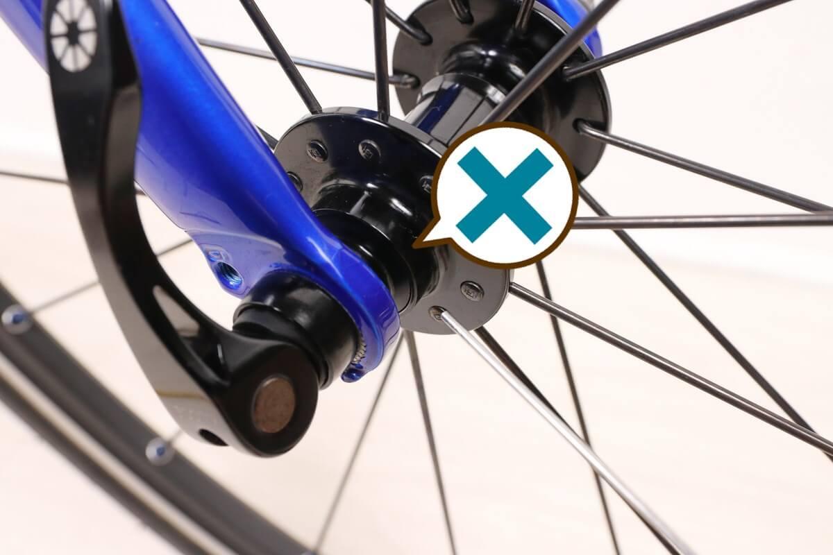 自転車のハブは注油NG