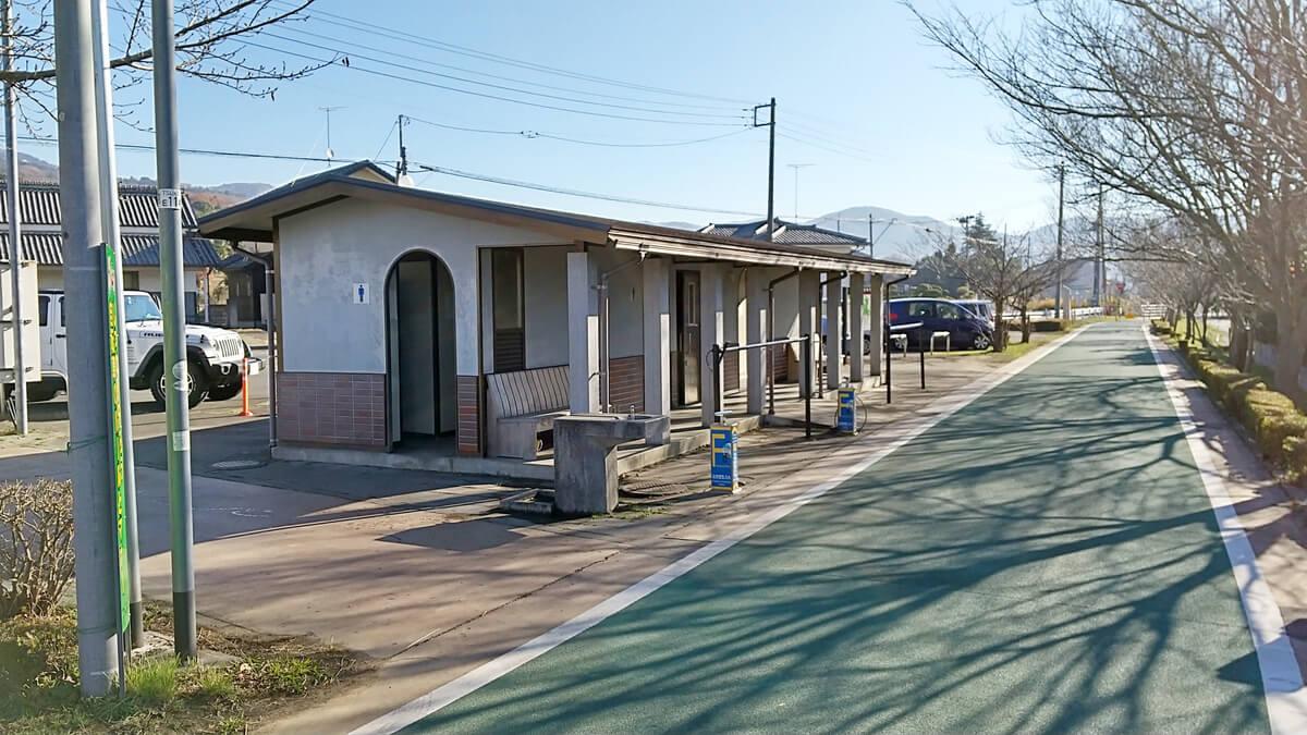 旧筑波鉄道コースのトイレ