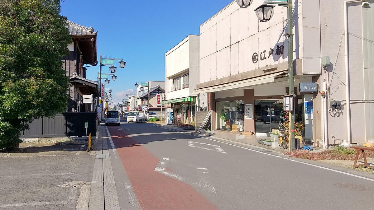 旧筑波鉄道コース 真壁の町並み