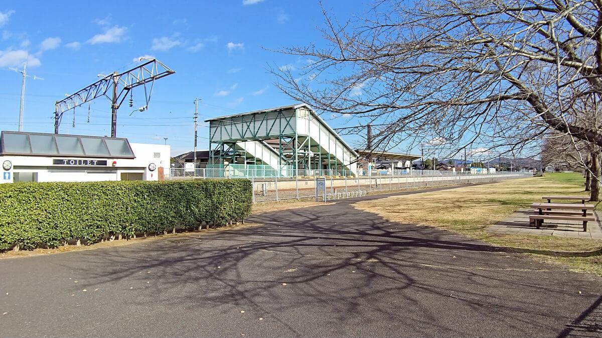 旧筑波鉄道コース 岩瀬駅のトイレ