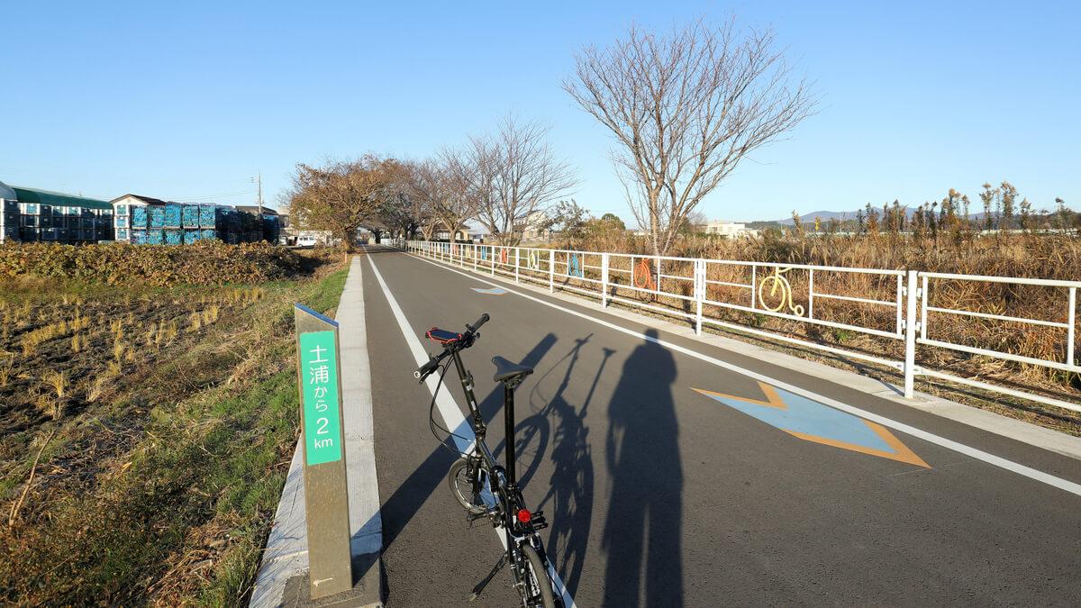 旧筑波鉄道コース 土浦から2km地点