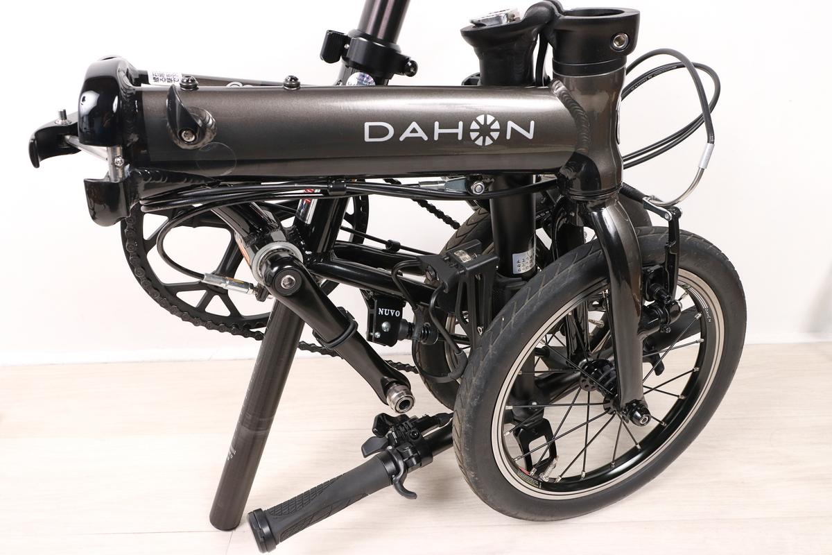 バイクガイ どこでもケージホルダーを付けたままDAHON K3を折りたたむ