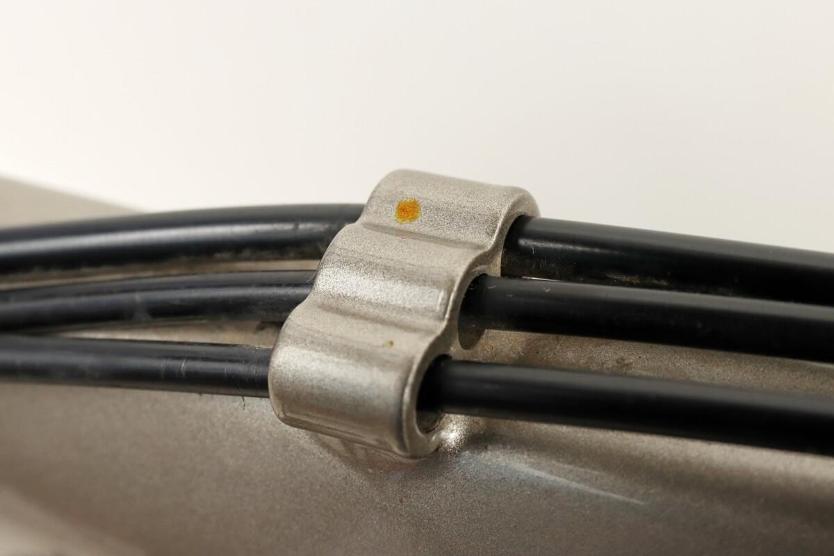 自転車フレームの鉄粉によるサビ