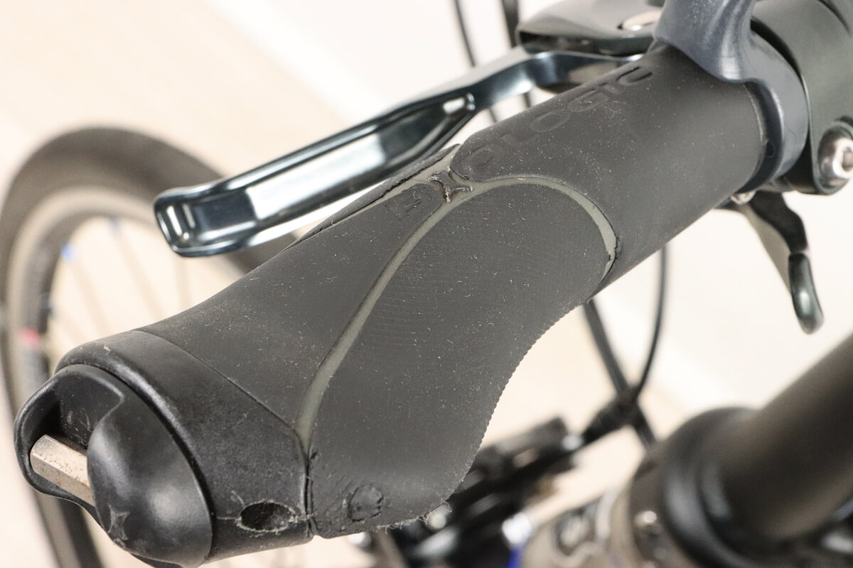 自転車グリップの劣化